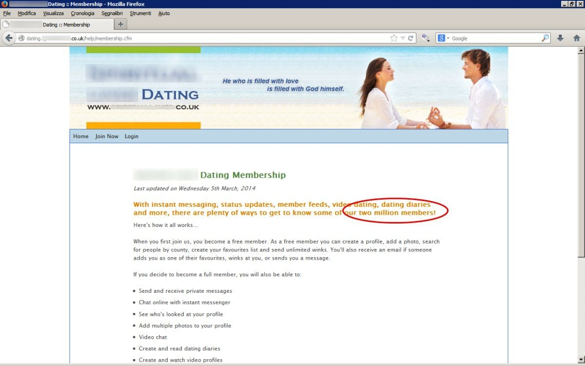 Dating scams can be found on