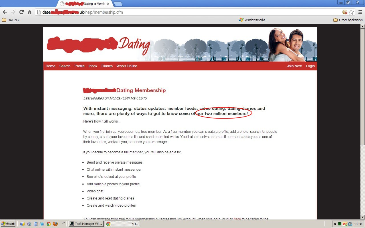 different internet dating sites